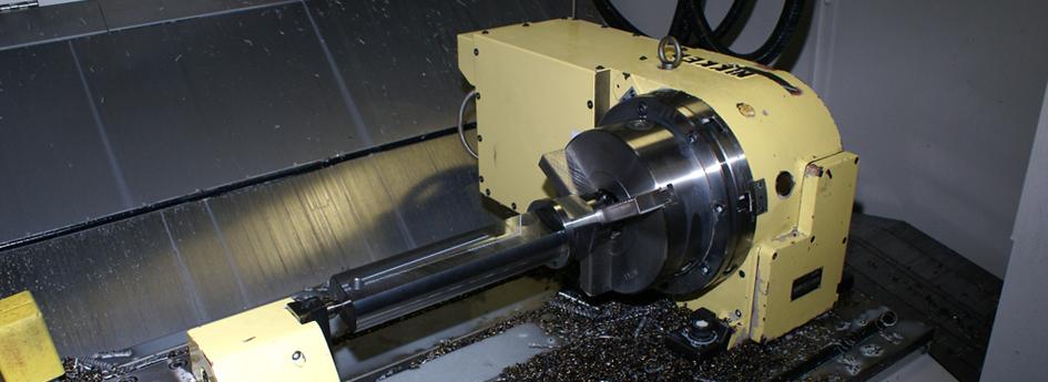 CNC fræsning m. 4 aksler i Bearbejdningscenter